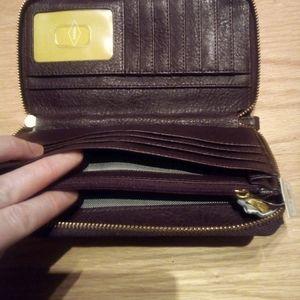 Fossil Wallet Clutch, Fig, NWT